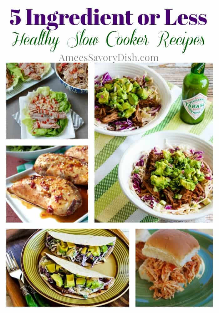Fifteen 5 Ingredients or Less Healthy Slow Cooker recipes