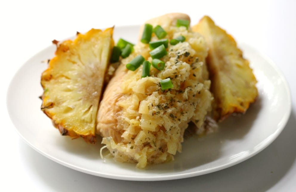 Slow Cooker Macadamia Pineapple Chicken