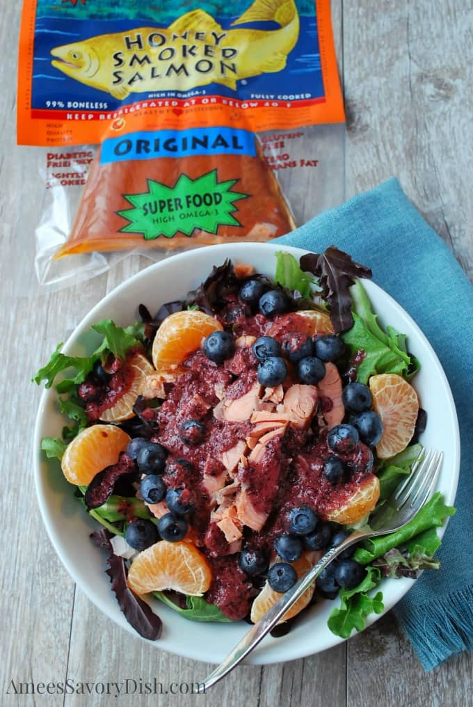 Salmon Salad with Fresh Blueberry Vinaigrette recipe