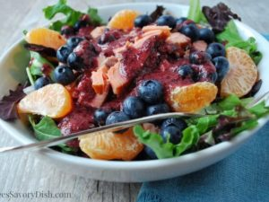 Blueberry Salmon Salad recipe