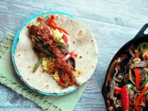 Pepper Steak Breakfast Burritos