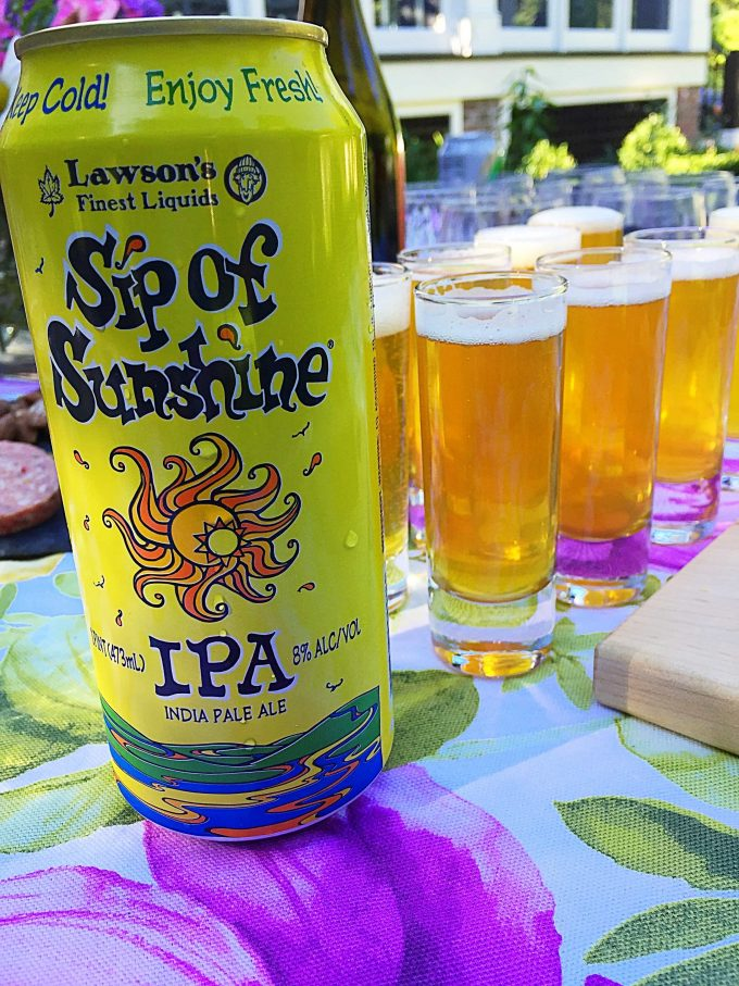 Sip of Sunshine IPA and Cabot Cheese