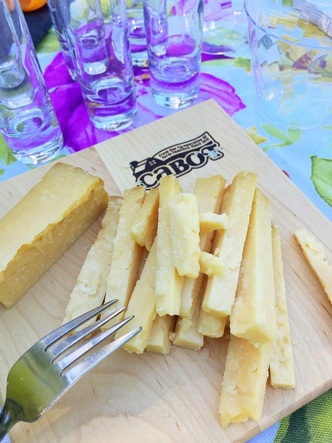 Cabot cheese tasting