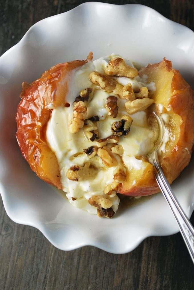 protein packed stuffed baked apple