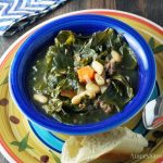 Italian Sausage White Bean Collard Green Soup