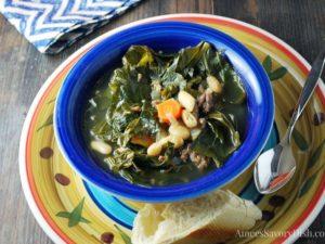 Italian Sausage White Bean Collard Green Soup