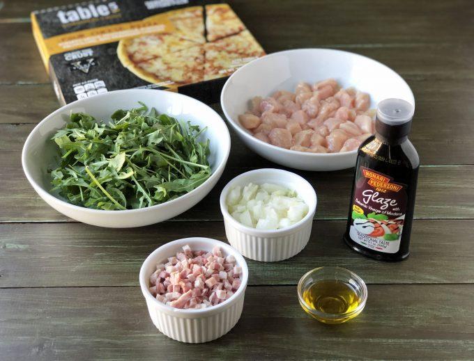 Balsamic Glazed Chicken Arugula Pizza ingredients