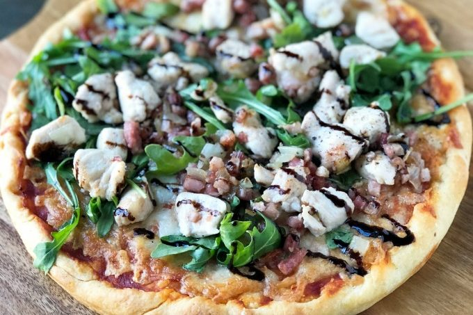 Balsamic Glazed Chicken Arugula Pizza