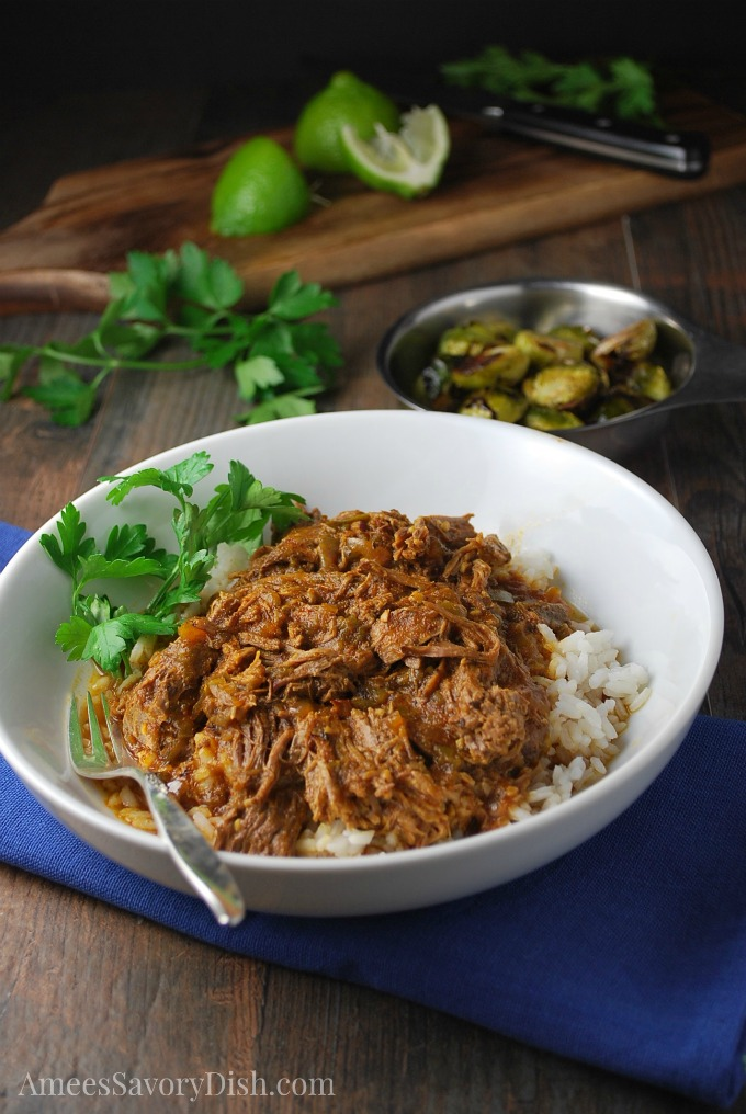 Instant Pot Cuban-Style Shredded Beef