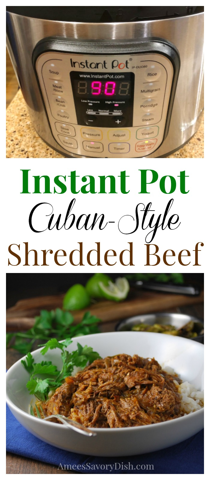 Instant Pot Cuban-Style Shredded Beef recipe