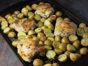 Sheet Pan Rosemary Roasted Chicken and Potatoes