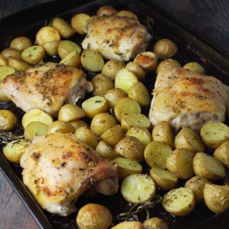 Sheet Pan Rosemary Roasted Chicken and Potatoes