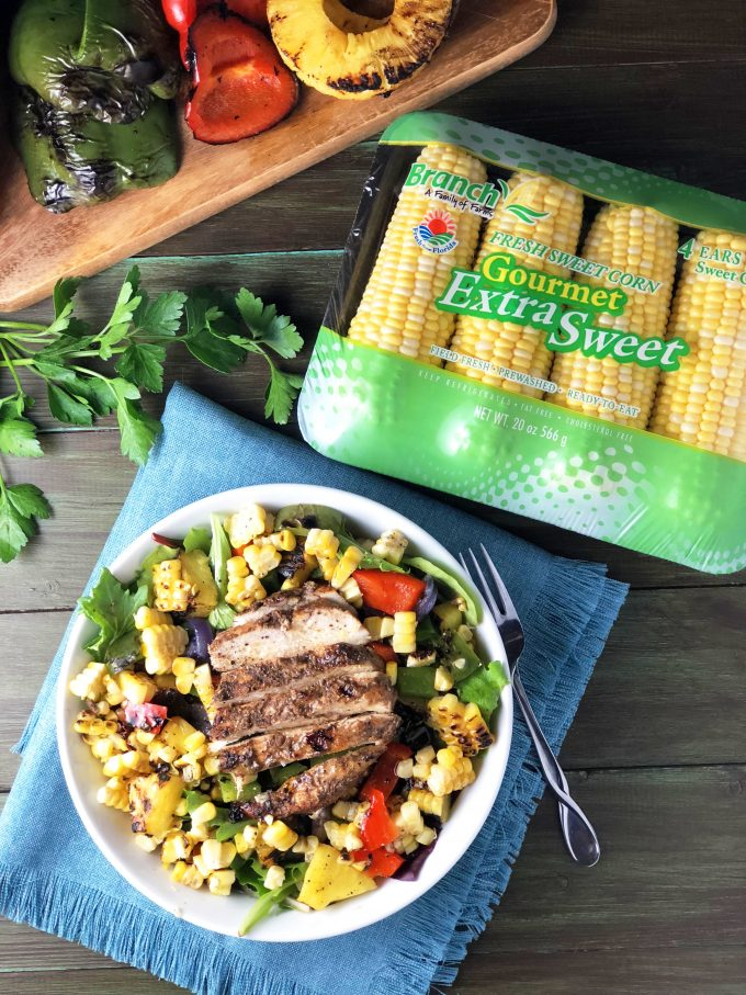 Caribbean Grilled Jerk Chicken Bowls recipe featuring Branch corn