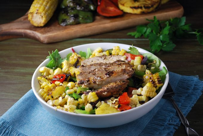 Caribbean Grilled Jerk Chicken Bowls recipe