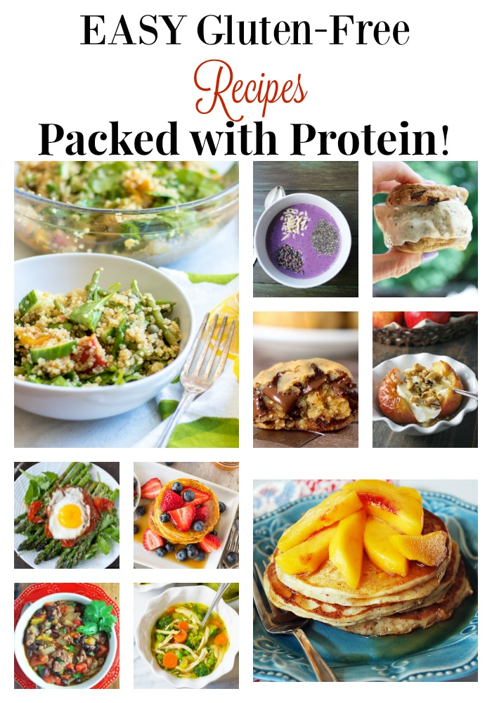Easy Gluten Free Recipes Packed with Protein #glutenfreerecipes #easyglutenrecipes via @Ameessavorydish