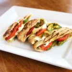 Caprese Avocado Grilled Pitas
