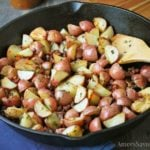 Garlic Roasted Potatoes with Sage & Proscuitto