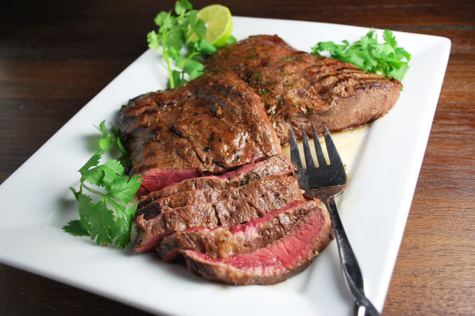 Garlic Lime Grilled Flat Iron Steak