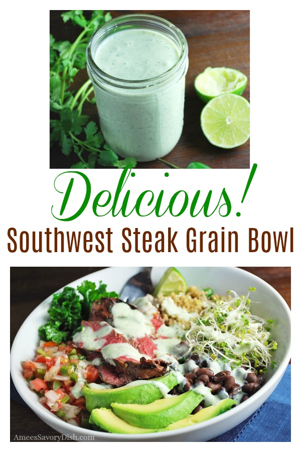This Southwest Steak Grain Bowl with Creamy Verde Dressing makes a great post-workout meal to refuel the body.