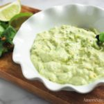 This easy protein avocado dip recipe made with Greek yogurt is crazy good and super simple to whip up in a flash.