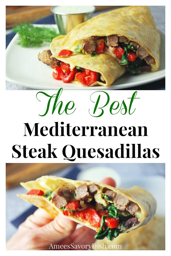 #Sponsored You get a blend of flavorful Mediterranean ingredients in a classic Mexican dish made with lean sirloin steak.  The best part is that you can whip up this tasty steak quesadilla recipe in under 30 minutes! via @Ameecooks