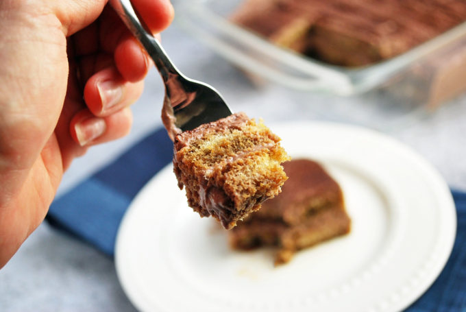This Healthier Chocolate Tiramisu recipe is made with espresso, stevia-based sweetener, protein powder, lady fingers and a blend of whipped topping and soft cheeses.  We think it's just as good, if not better than the original!