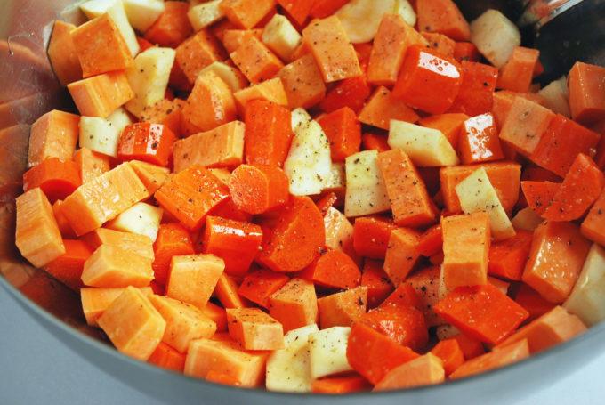roasting root vegetables for the best roasted vegetable salad
