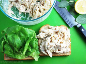 The best chicken salad with lemon and sage