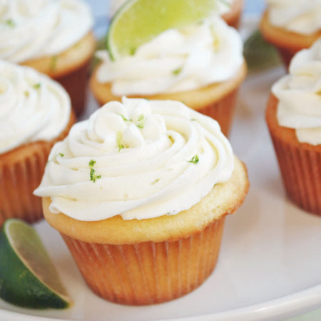 Key lime cupcakes with key lime buttercream frosting