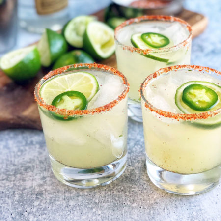 The best spicy margarita recipe with fresh jalapeños