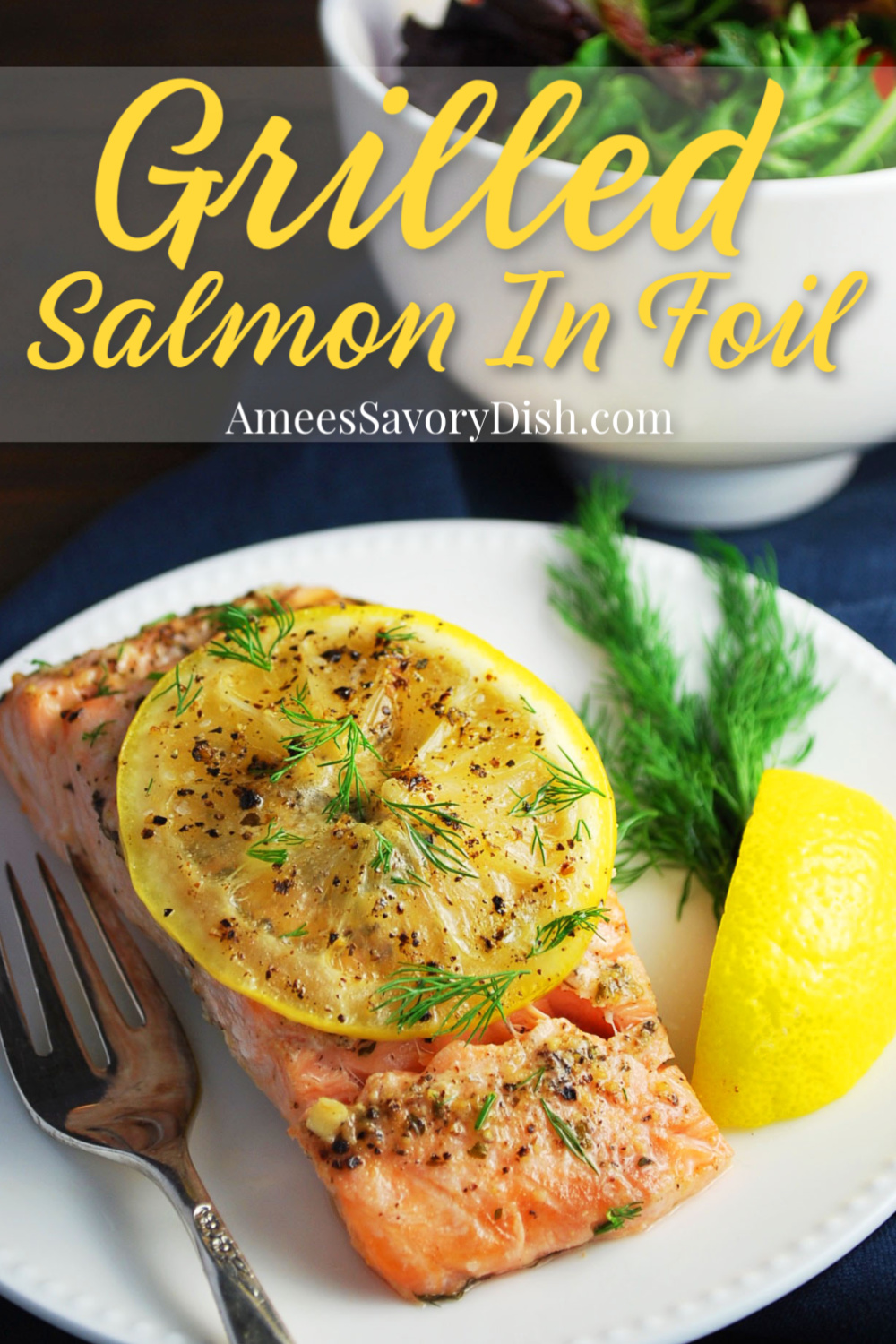 Grilled Salmon In Foil Packets is a simple healthy recipe that comes together and cooks in less than 20 minutes. #grilledsalmon #salmonrecipe #foilpacketsalmon #foilpacketmeals #salmon #seafoodrecipe via @Ameecooks