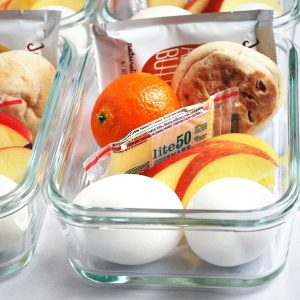 DIY Starbuck's bistro box ingredients in glass containers