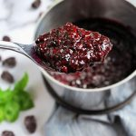 spoonful of blackberry compote