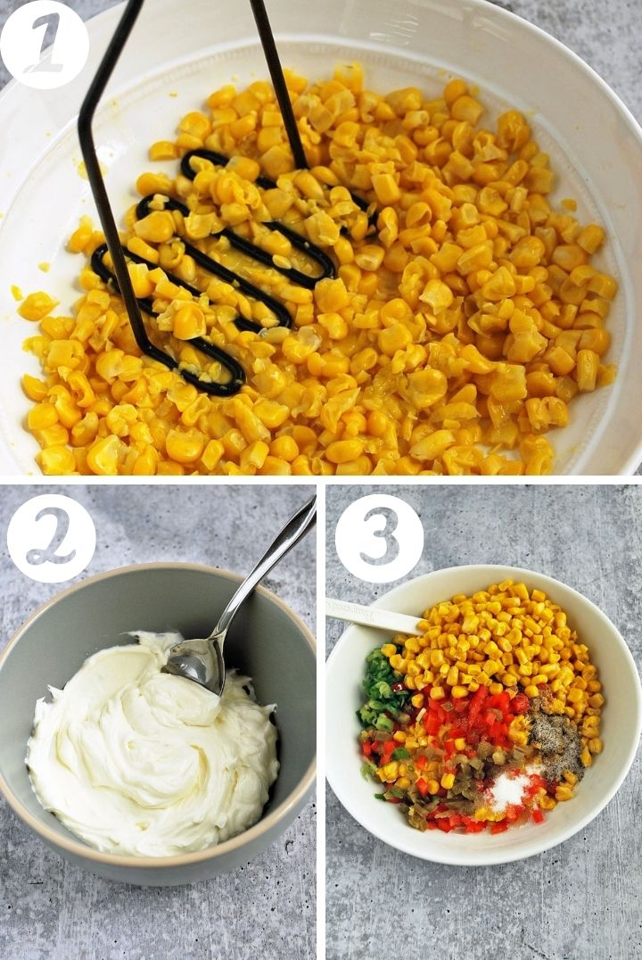 step by step photos for making corn relish dip