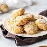Almond cookies gluten free on a platter