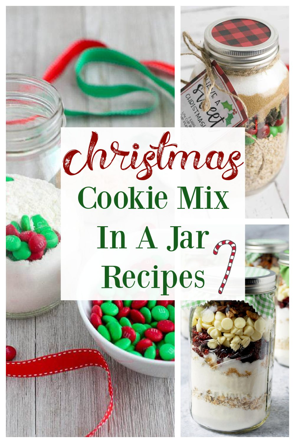 A round-up of delicious Christmas cookie mix in a jar recipes for holiday gift-giving. Homemade gifts are the best and everyone will love receiving these from-scratch mason jar treats!#cookiemixinjars #jarcookiemix #masonjarcookies #christmascookies #diygifts #foodiegifts via @Ameessavorydish
