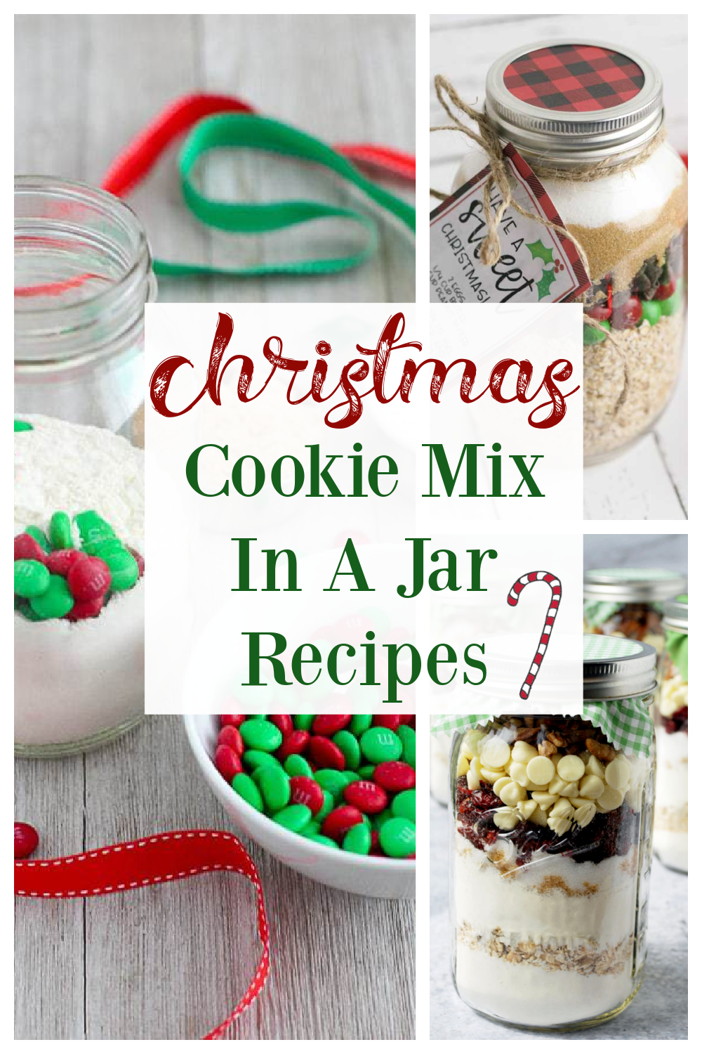A round-up of delicious Christmas cookie mix in a jar recipes for holiday gift-giving.  Homemade gifts are the best and everyone will love receiving these from-scratch mason jar treats!  #cookiemixinjars #jarcookiemix #masonjarcookies #christmascookies #diygifts #foodiegifts via @Ameessavorydish