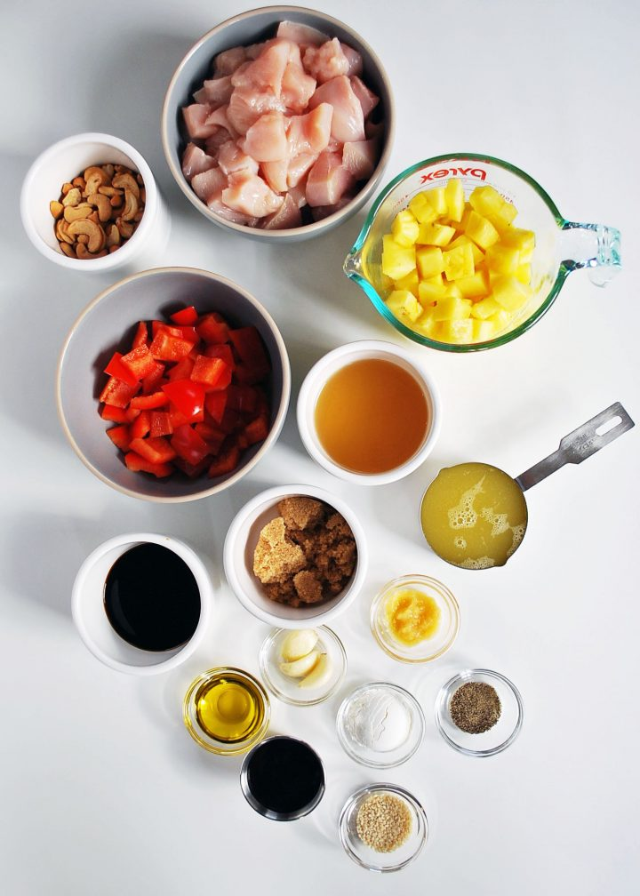 ingredients needed for pineapple chicken