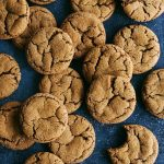 chewy ginger molasses cookies from Farm Girl Dabbles