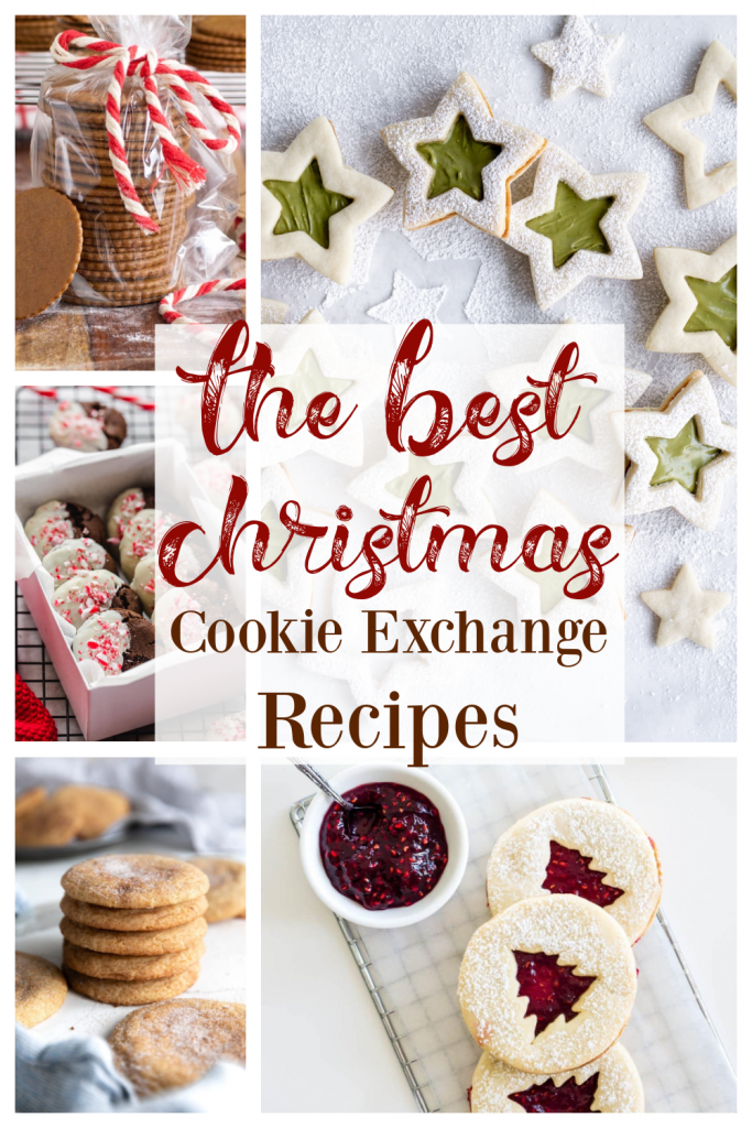 collage of cookie recipes with description for Pinterest