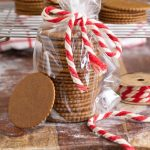moravian molasses cookies stacked