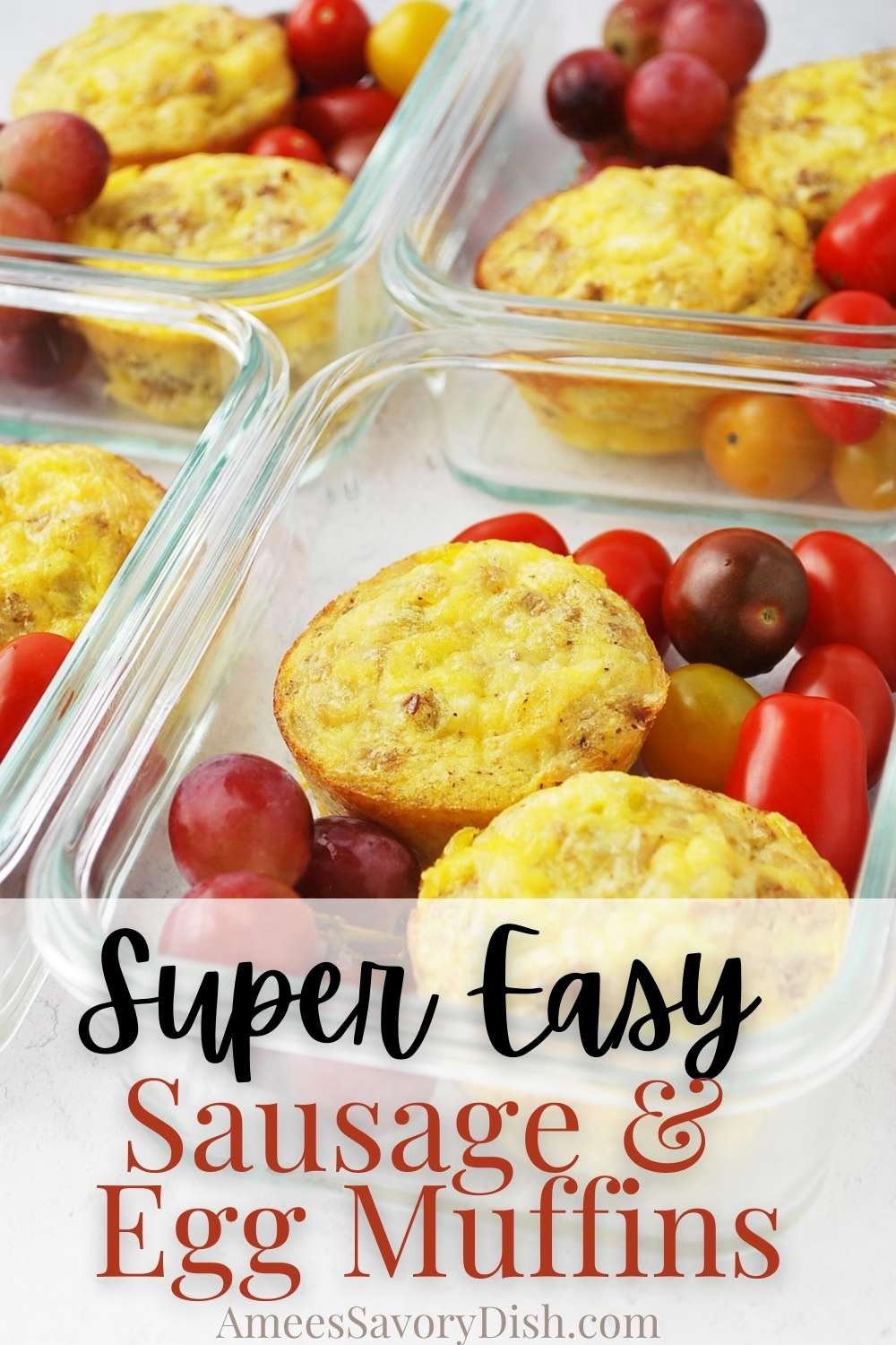 This easy recipe for sausage egg muffins is the perfect healthy breakfast for someone looking for a high-protein meal or snack and great for meal prep! #eggmuffins #sausageeggmuffins #highproteinbreakfast #eggcups #bakedeggs via @Ameessavorydish