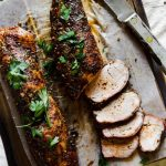 pork tenderloins on a cutting board