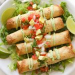 taquitos on a plate