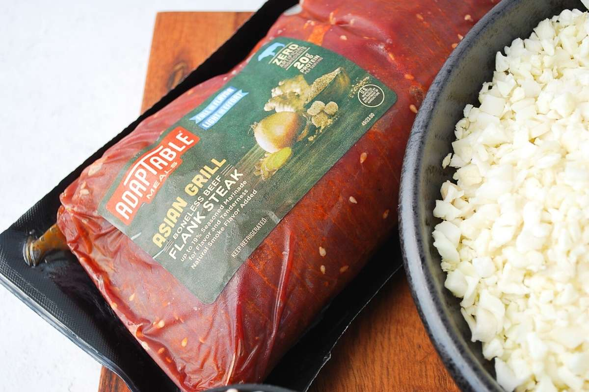 AdapTable Meals Asian flank steak in the packaging
